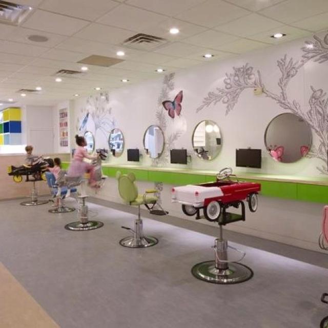 Interior for kids hairdressing salon