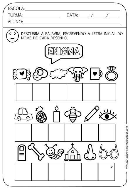 Atividade pronta - Descubra o enigma - A Arte de Ensinar e Aprender