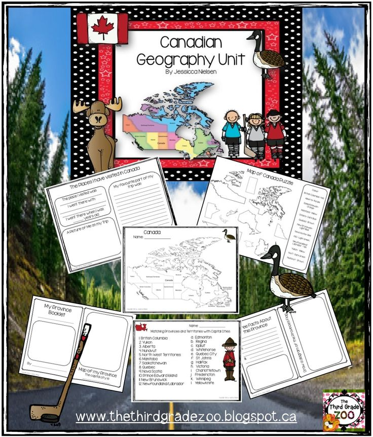 $The goals of this unit are to teach students about basic mapping skills, for students to learn the names, placement, and capital cities of the 10 provinces and 3 territories in Canada, for students to learn more about their own province, and to complete a research project on a chosen province or territory.