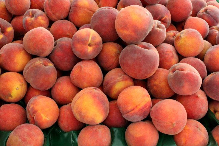 CLINGSTONE PEACHES, MID-JUNE-Sweeter & Juicier, harder to slice.