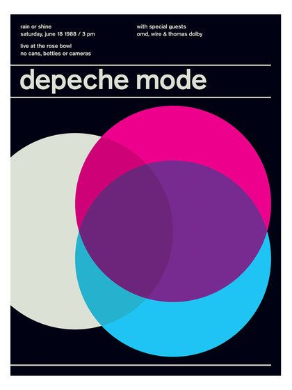 Depeche Mode (Poster Print) by Swissted at Gilt