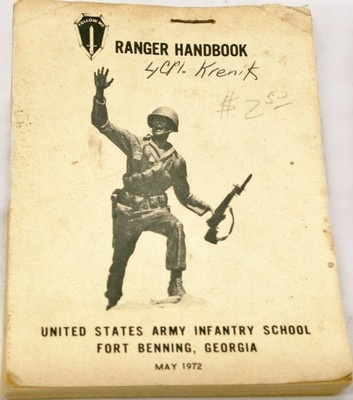 Vintage US Military Army Infantry School Fort Benning Georgia Ranger Handbook Dated May 1972