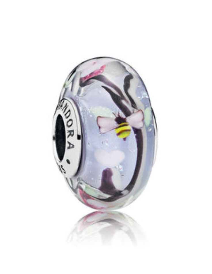 Pandora Enchanted garden murano glass charm bead