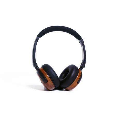 thinksound On1 Supra-Aural Monitor Wooden Headphones with Detachable Cable and Single-Button Microphone Control, Multicolor