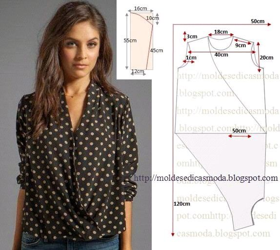 Sewing pattern - crossover top