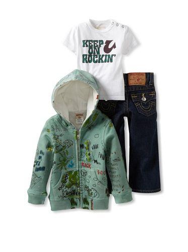 True Religion for Baby Girls   True Religion Baby-Boys Infant 3 Piece Box Set, Evergreen, 12-18 ...
