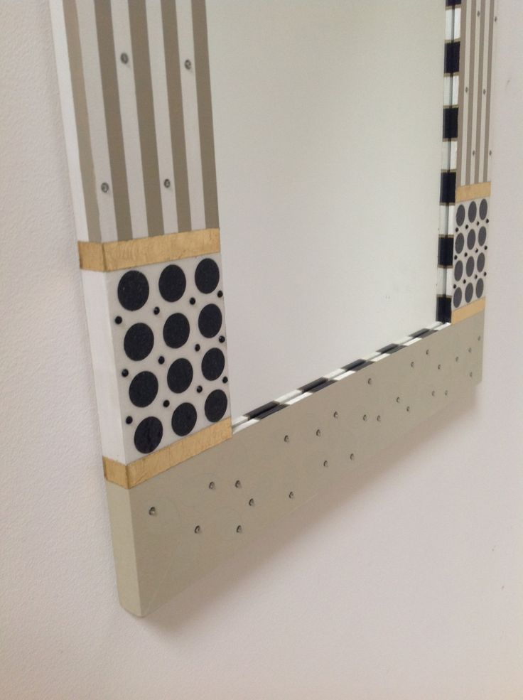 Contemporary Painted Mirror Frame, White, Beige, Black by sharonmooradian on Etsy https://www.etsy.com/listing/155899767/contemporary-painted-mirror-frame-white