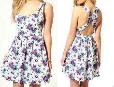 vestidos casuales cortos floreados - Buscar con Google