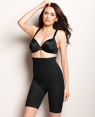 Miraclesuit Extra Firm Control Shape with an Edge High Waist Thigh Slimmer 2709 - Lingerie - Women - Macy's