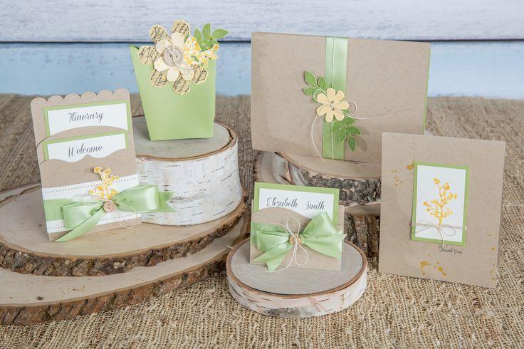 Fun Stampers Journey Rustic Elegant Wedding Invitation