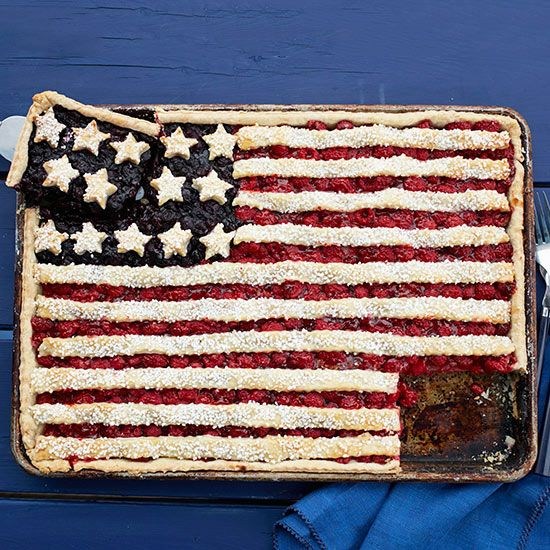 Berry Flag Tart! How to make it: http://www.bhg.com/videos/m/92276772/fun-july-4th-dessert-berry-flag-tart.htm