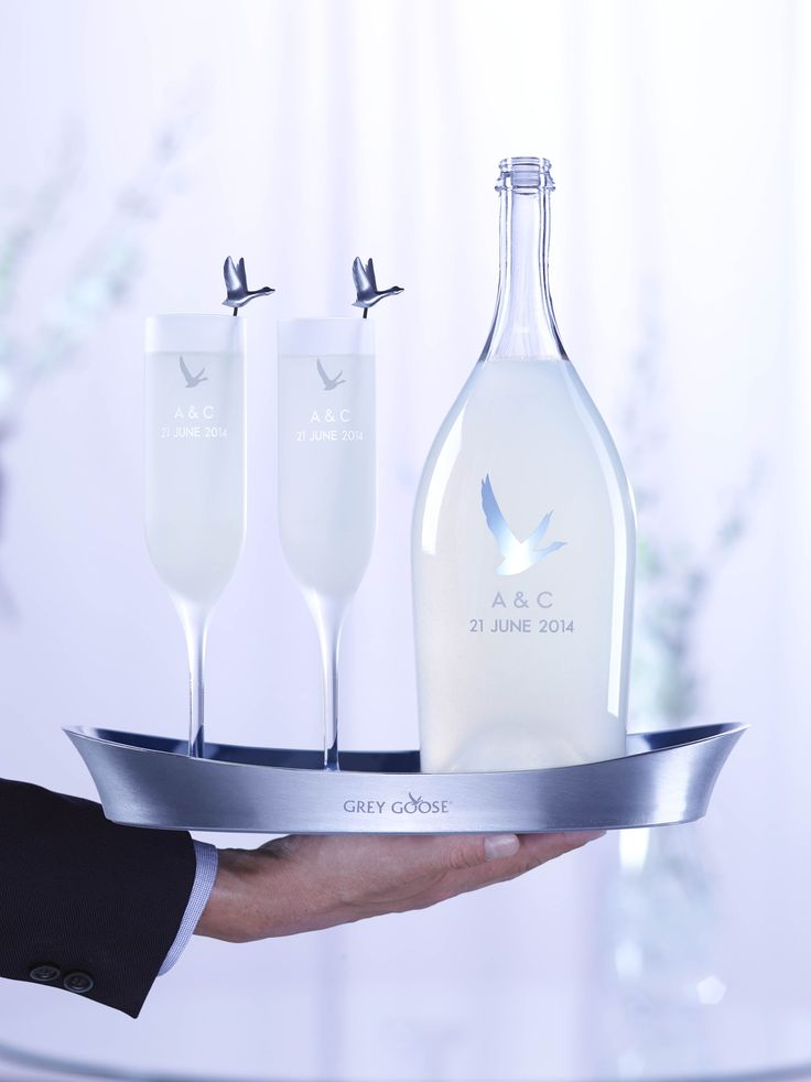 GREY GOOSE Le Fizz, personalised for your wedding. Achieve the extraordinary. #FlyBeyond