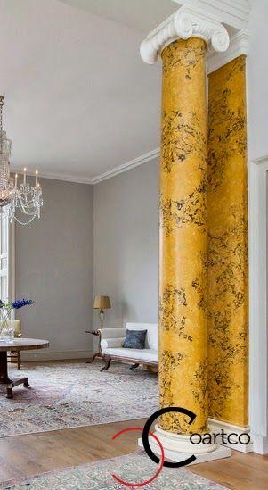 Coloane decorative polistiren, interior, coloane ionice