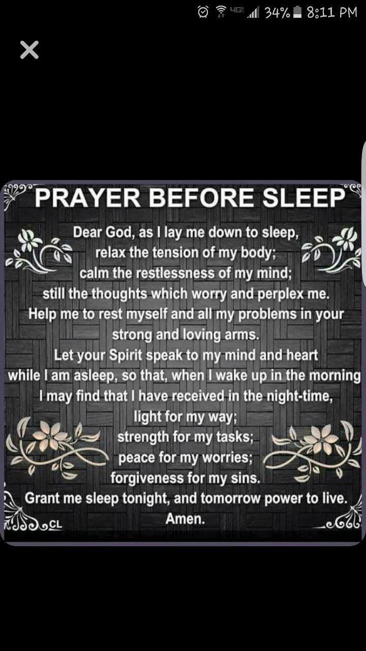 Pin by 05ram2500 on Bible time Prayer before sleep, Lay