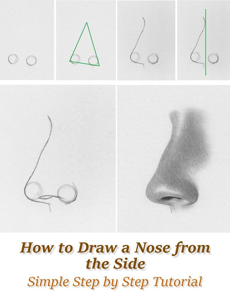 how to draw a nose from the front youtube