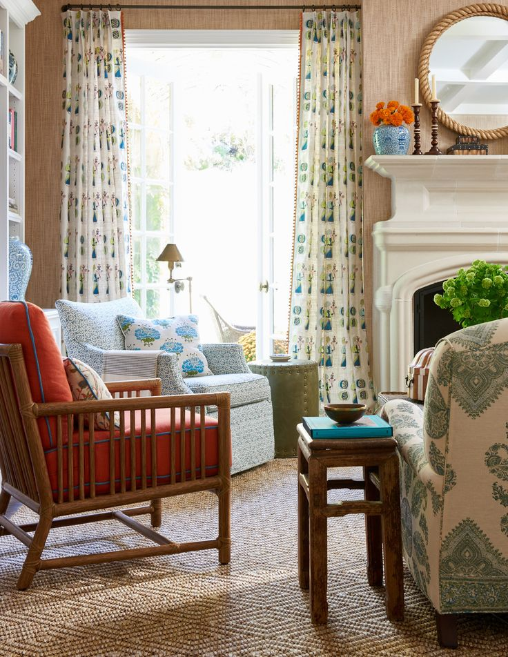 Pacific Palisades No. 3 - Mark D. Sikes - Mix of Textiles on Upholstery