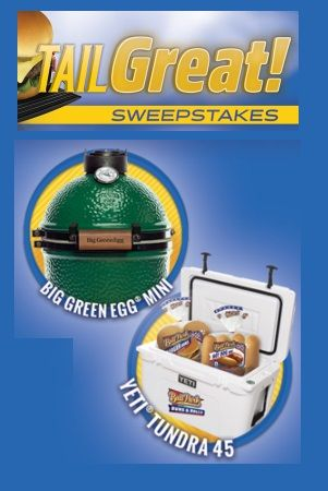 """Click the """"Snag This"""" link and enter every day for your chance to win the Ball Park Buns TailGreat Sweepstakes! 1 Grand Prize Tailgating Prize Pack: – Big Green Egg MINI EGG – YETI Tundra 45 cooler – Ball Park Buns for a year! 5 First Prize Packs: – YETI® Rambler 20 oz. Tumbler – …"""