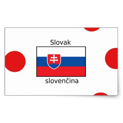 Slovak Language And Slovakia Flag Design Rectangular Sticker - craft supplies diy custom design supply special