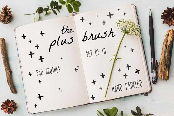 The Plus Brush - PSD Brush Set by The Big Lake on Creative Market