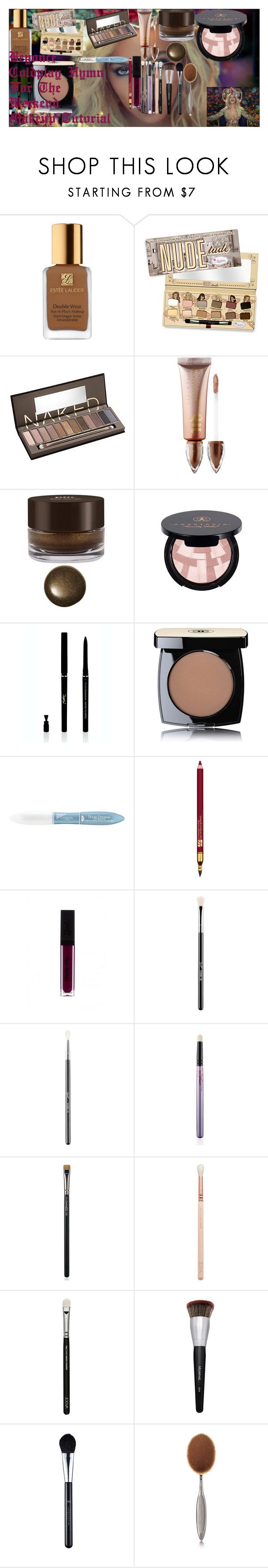 """Beyonce Coldplay Hymn For The Weekend Makeup Tutorial"" by oroartye-1 on Polyvore featuring beauty, Reine, Estée Lauder, Urban Decay, PUR, Anastasia Beverly Hills, Yves Saint Laurent, Chanel, L'Oréal Paris and Sigma"