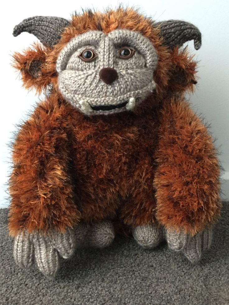 A personal favourite from my Etsy shop https://www.etsy.com/au/listing/264075088/ludo-from-labyrinth-knitting-pattern-pdf