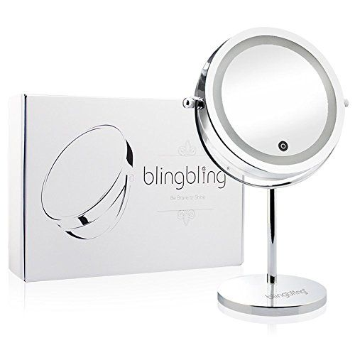 BlingBling 7Inch 5x Magnifying Vanity Mirror LED Touch Activated Lighed Makeup Mirror Doublesided15X >>> Visit the image link more details.