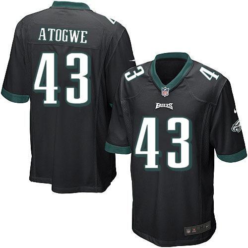 Nike NFL Philadelphia Eagles #43 Oshiomogho Atogwe Limited Youth Black Alternate Jersey Sale