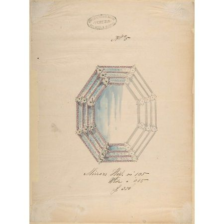 One of Twenty-Three Sheets of Drawings of Glassware (Mirrors Chandeliers Goblets etc.) Poster Print by Compagnia di Venezia & Murano (18 x 24)