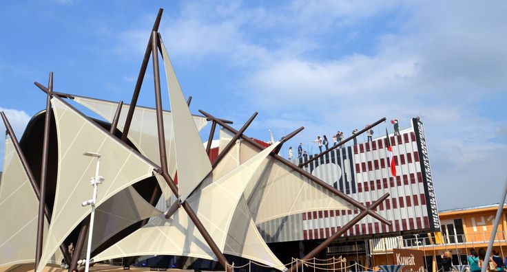 A view of Kuwait Pavilion #Expo2015