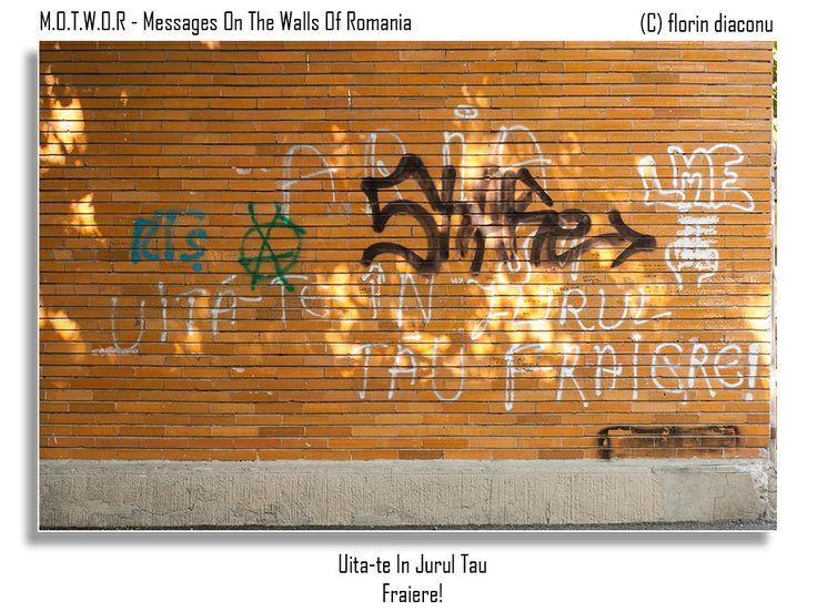 Message: Look around you fool! Location: Octav Onicescu Street, Botosani