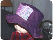 purple baby sun hat