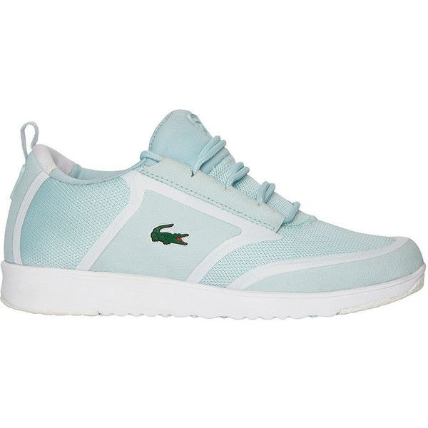 Lacoste Women's L.ight 116 Athletic ($110) ❤ liked on Polyvore featuring shoes, athletic shoes, lacoste shoes, lacoste, breathable running shoes and lacoste footwear