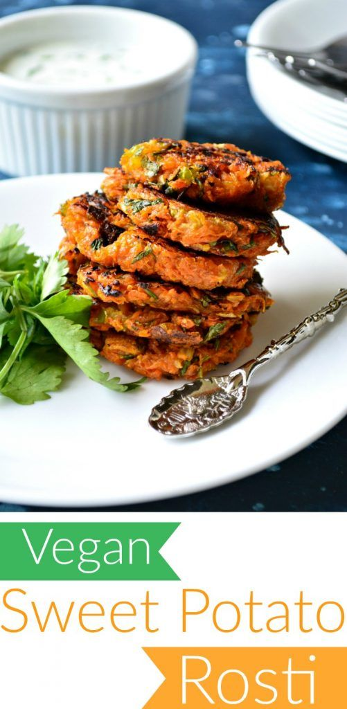 Sweet Potato Rosi - Swedish breakfast pancakes turned into indian fusion appetizers - seasoned with ginger, cilantro and red pepper flakes. Vegan.
