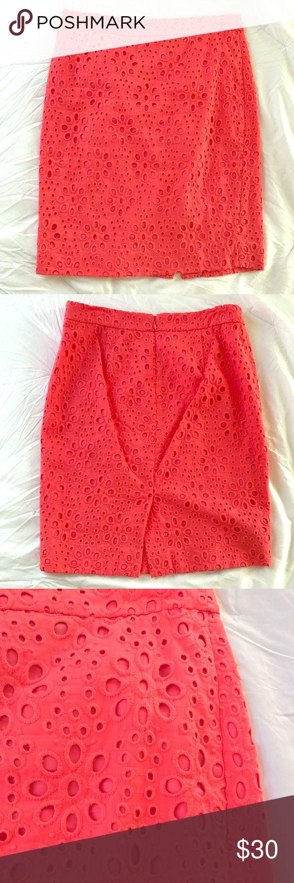 Selling this J. Crew coral pencil skirt on Poshmark! My username is: meganlaures. #shopmycloset #poshmark #fashion #shopping #style #forsale #J. Crew #Dresses & Skirts