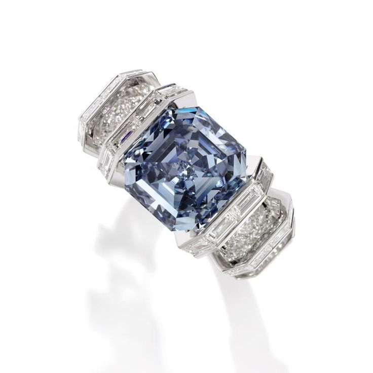 The 8.01 carat Sky Blue Diamond is set into a ring signed by Cartier. Discover the most expensive rings in the world: http://www.thejewelleryeditor.com/jewellery/know-how/most-expensive-ring-in-the-world/ #jewelry