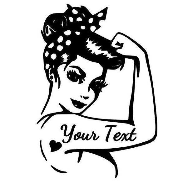 Rosie Pinup Small Heart Tattoo Solid Color Car//Computer Decal