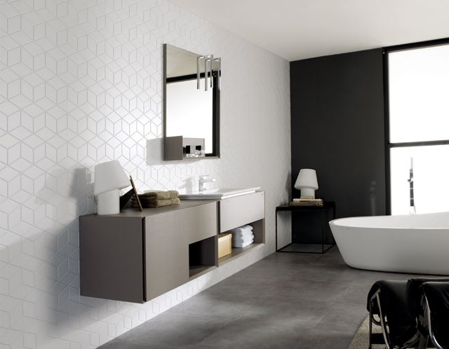 Geometric designs and psychedelic stamping for walls   Porcelanosa International