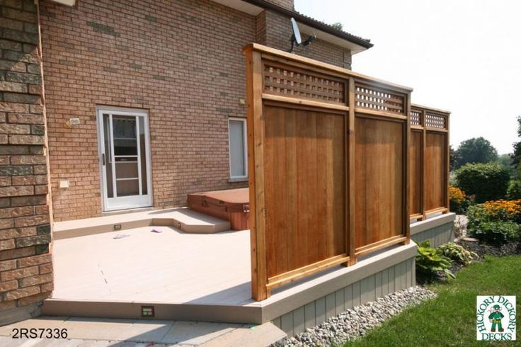 Deck privacy screen get out side pinterest for Privacy planters for decks
