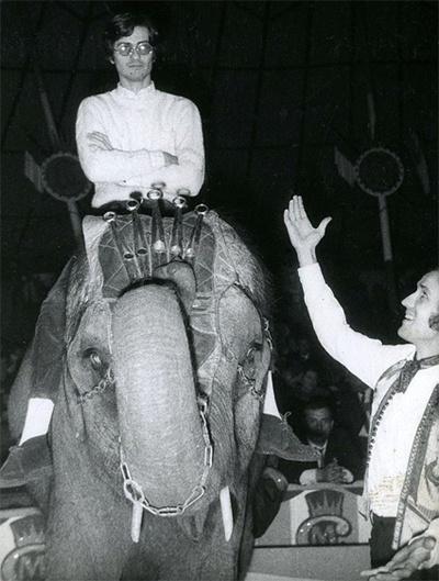 Alighiero Boetti and Giulio Paolini at the circus, 1960s