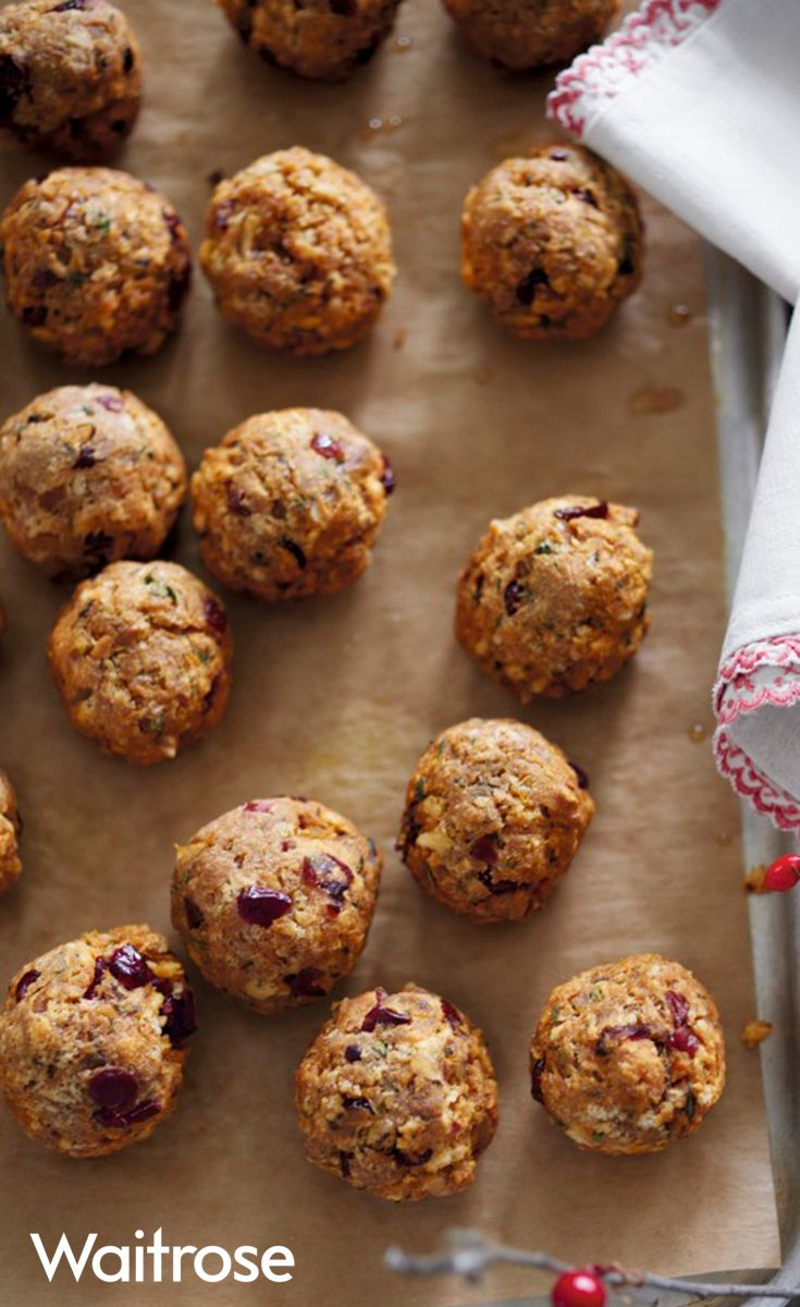 Try the Waitrose recipe for cranberry, clementine and thyme stuffing balls – they're delicious and simple to make. Find more Christmas Day recipes on the Waitrose website.