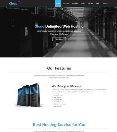Cloud-Hosting-Free-Template