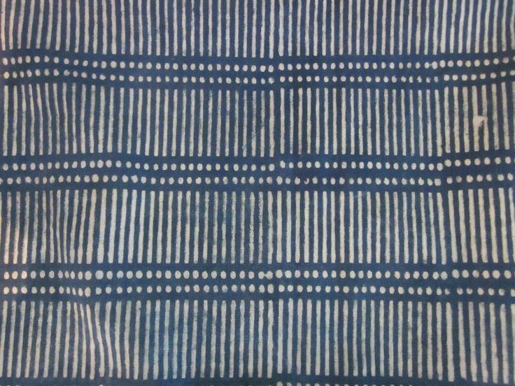 Dash Dot Indigo Linen
