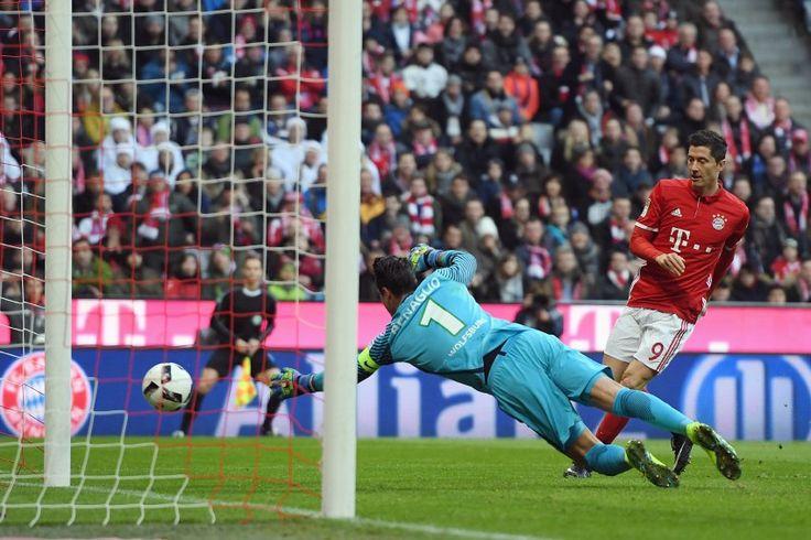 BL 16/17: 14.Sptg.- Bayern München - VFL Wolfsburg 5:0 - Bayern wieder Spitzenreiter - Nur drei Minuten später sorgte Robert Lewandowski für die frühe Vorentscheidung...