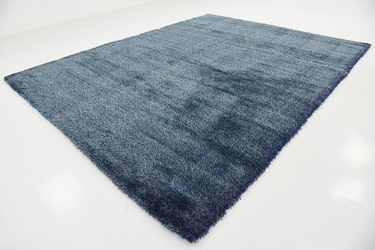 Navy Blue 305cm x 395cm Luxe Solid Shag Rug | Area Rugs | iRugs Singapore