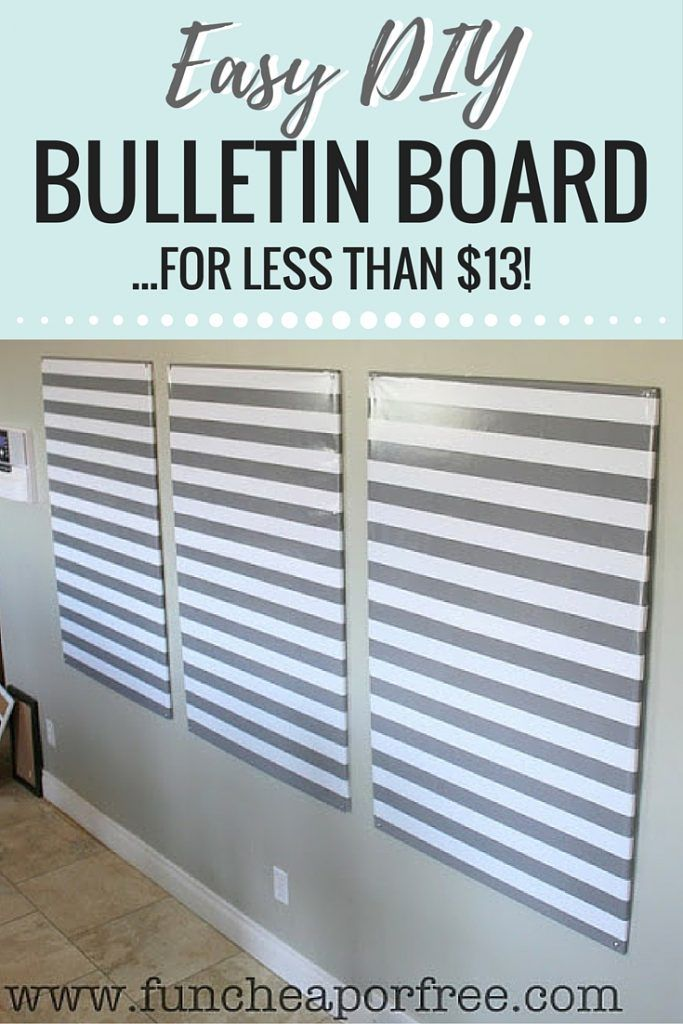 Easy DIY Bulletin Boards! One of our best hacks for saving you time and money to…