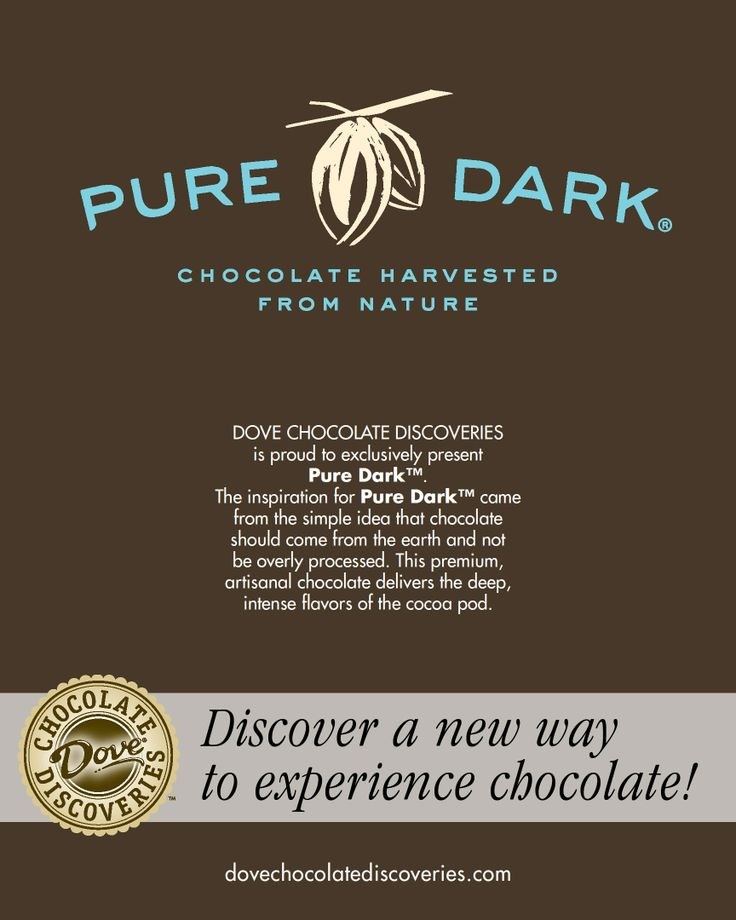 Exclusive to Dove Chocolate Discoveries