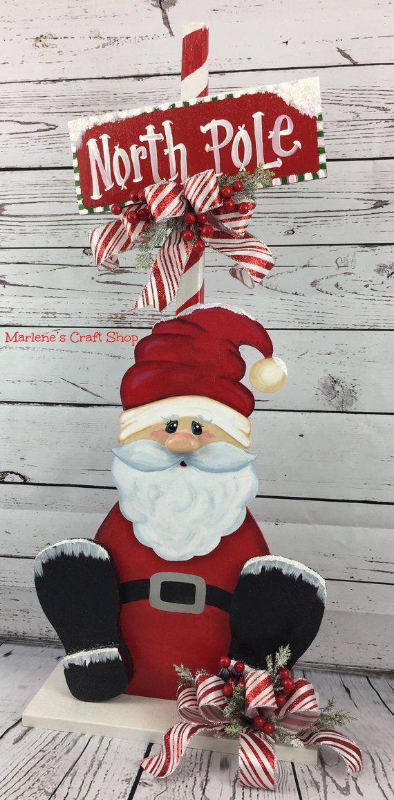 Santa Clause Decoration, Christmas centerpiece, Sa…