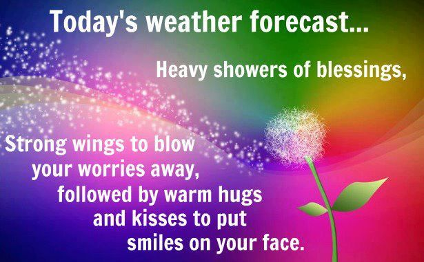 Today's Weather Forecast...Heavy Showers Of Blessings