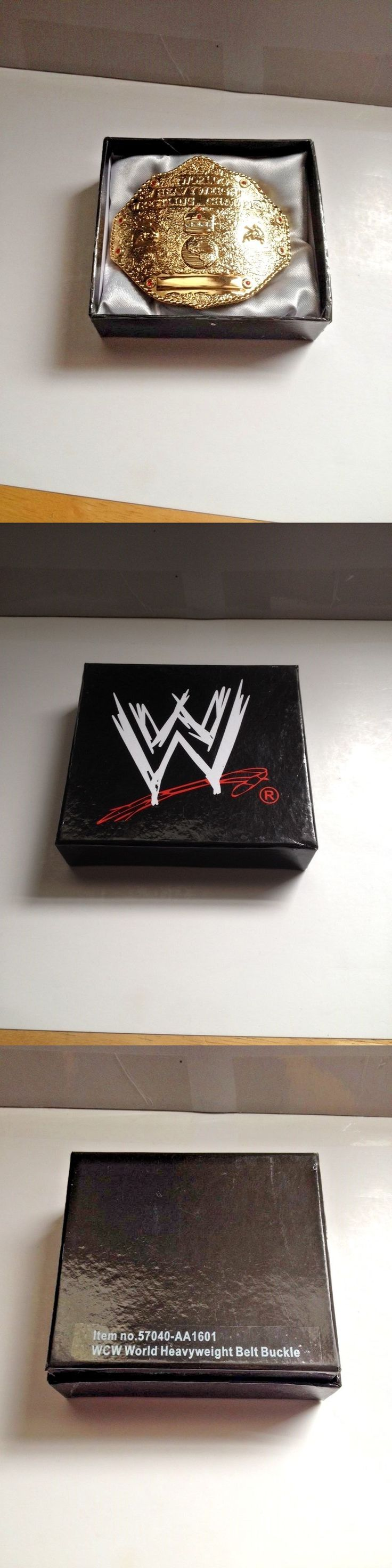 Wrestling 2902: Wcw World Heavyweight Championship Licensed Metal Belt Buckle In Gift Box -> BUY IT NOW ONLY: $34.95 on eBay!