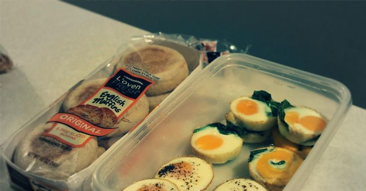 A quick and easy way to make enough eggs for a week's worth of healthy egg sandwiches for breakfast.